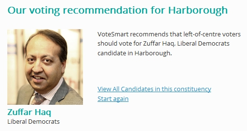 votesmart recommendation